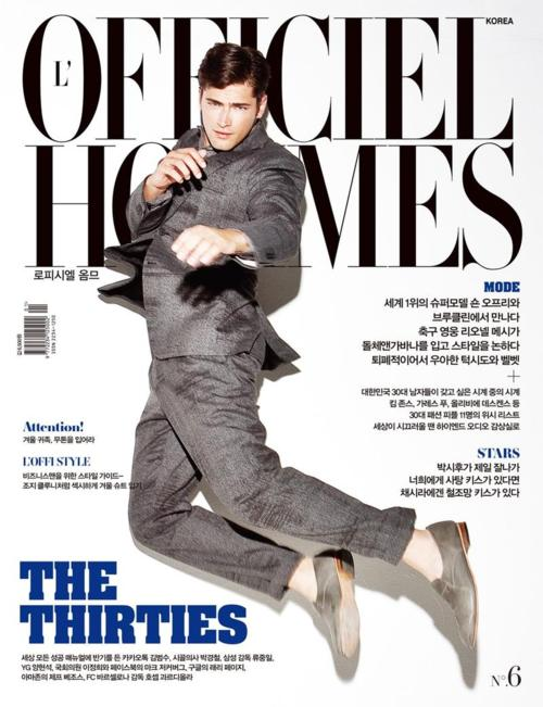 Sean O'Pry for L'Officiel Hommes Korea January 2012
